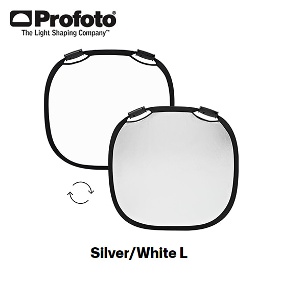 Collapsible Reflector Silver/White L
