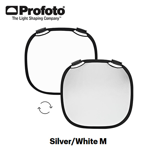 Collapsible Reflector Silver/White M