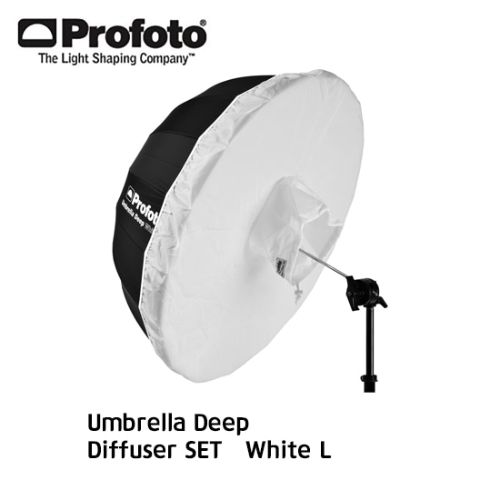 Umbrella + Diffuser SET White L